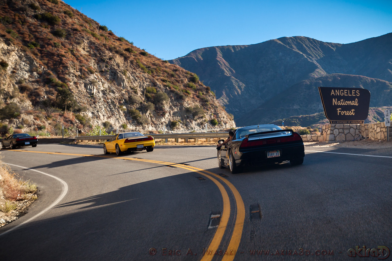 Entering the Angeles National Forest on Angeles Crest Highway
