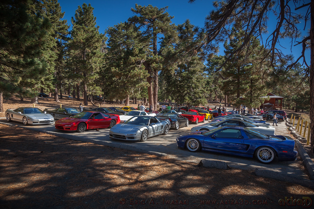 NSXs fill the entire parking lot