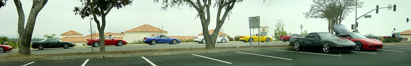 NSXs wait for the green light (panorama)