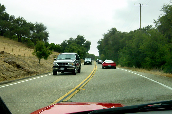 After lunch, our group continues along California State Route 150 towards Carpinteria