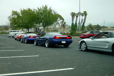 Our 28 car long train of NSXs and a S2000 prepare to depart from Camarillo Park-N-Ride Station