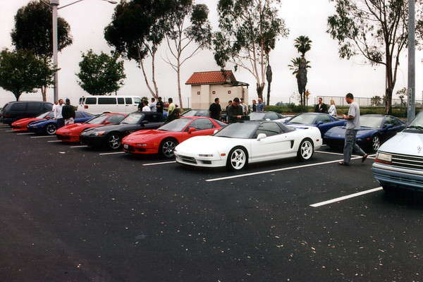 NSXs fill the Park-n-Ride lot