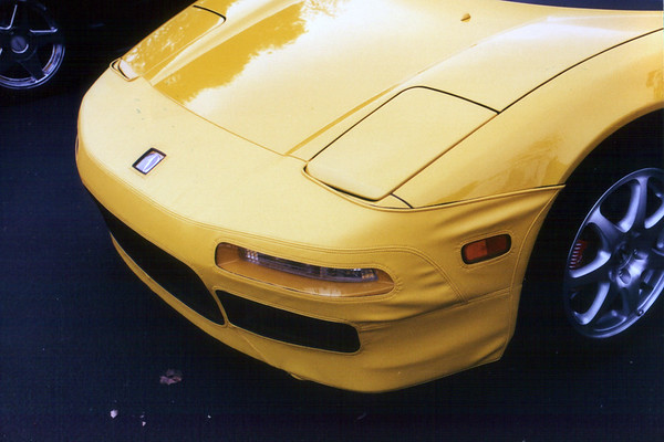 John (ANYTIME) has a color-matched Speed Lingerie nose mask on his Spa Yellow Pearl NSX