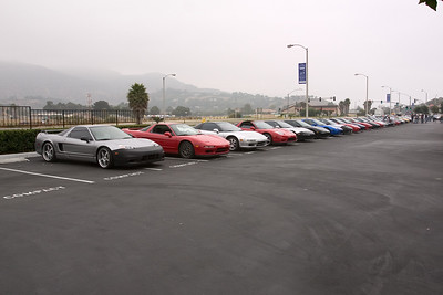 Around 8am, NSXers start converging on the parking lot at Malibu Colony Plaza