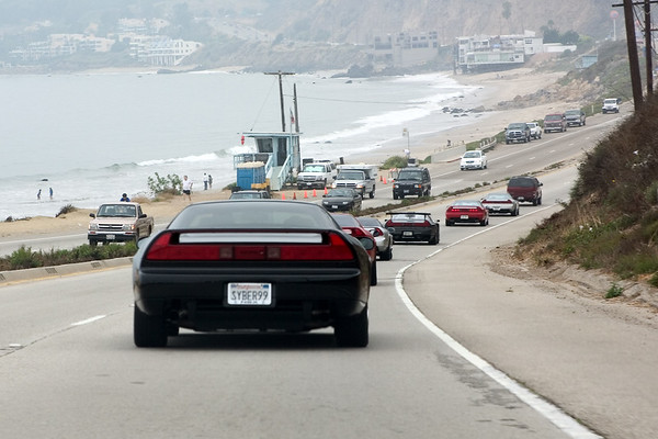 We start the drive heading north on PCH...