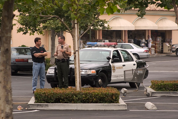 John greets the local sheriff