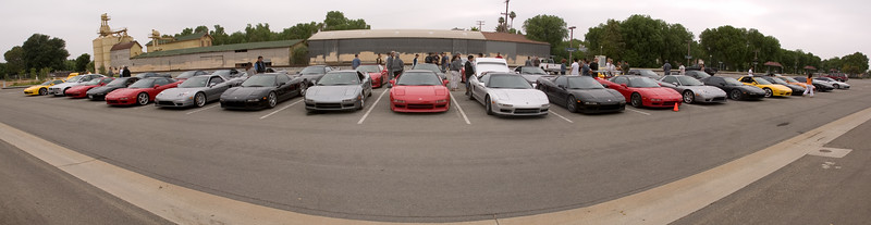 Moorpark NSX panorama...around 40 NSXs will participate in this year's run (via Photomerge)