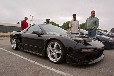 This NSX has unique fixed headlamps and a deep scoop