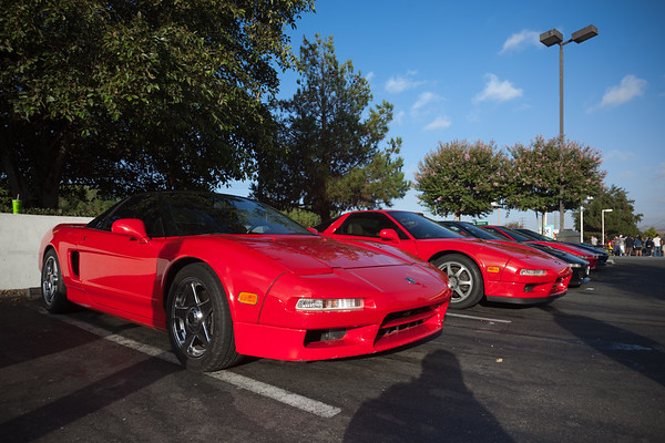 NSX owners arrive at the Secret Place in Valencia for the ninth annual CalCoastal NSX Canyon Drive