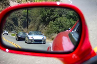 Reflecting Stooks on the twisties of Topanga Canyon