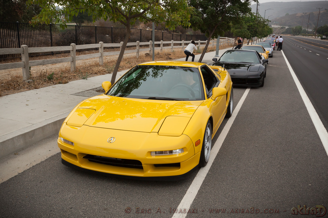 JC (Valhalla) is in front, though I think Les (LMR) will be leading in his black NSX