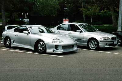 Toyota's Turbo Supra is the Japanese equivalent of an American muscle car...a lot of power packed into an affordable but not so elegant package.  Supras sporting a wide variety of body kits and other mods appear throughout the gathering.
