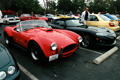 A pair of snakes: a Shelby Cobra 427 (I have no idea if this is a genuine model or a replica) and a Dodge Viper (the one from the previous photo).