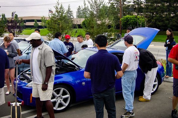 Crowd gathers around the new Z