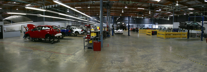 Factory floor panorama