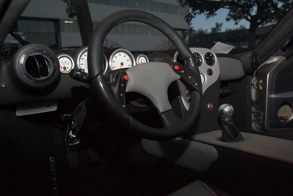The steering wheel and gauges