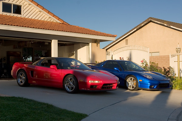 George and Scott (ss_md) park their NSXs on the driveway