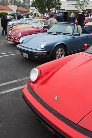 Generations of Porsches