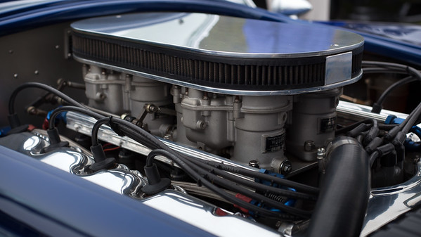 Under the hood of the blue Cobra
