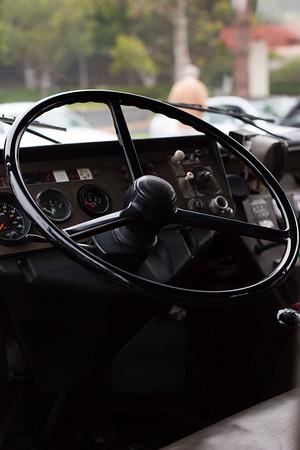 Behind the wheel of the Pinzgauer