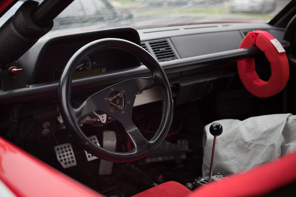 A peak inside the Ferrari