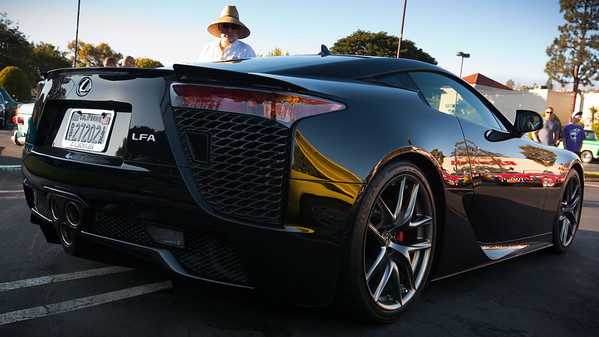 I did not expect a Lexus LFA to show up