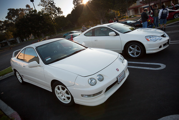 This time Pete (SoCal ITR) is parking in the featured car section.  A local Acura RSX Type S owner is especially enthusiastic about parking next to a genuine Integra Type R