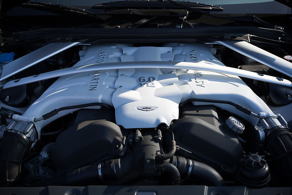Under the hood of the Aston Martin V12 Vantage