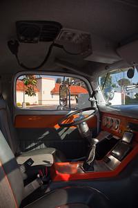 Inside the cockpit of the '38 Ford C.O.E.