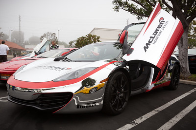 McLaren MP4-12C wrapped in their F1 team's color scheme...ick!