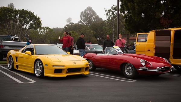 Ted's NSX and a Jaguar XK-E