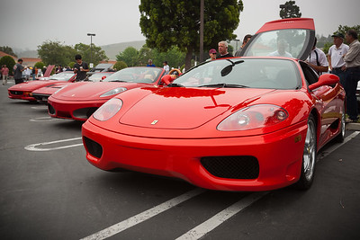 Of course, there are red Ferraris (but not a single Lamborghini)