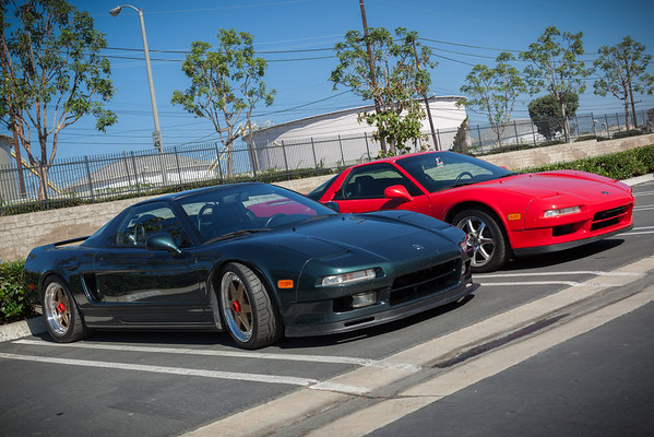 Today a small group of us have been invited to tour the Private American Honda/Acura Collection in Torrance.  When I arrive I see a familiar NSX in the parking lot...this one belonging to Joseph