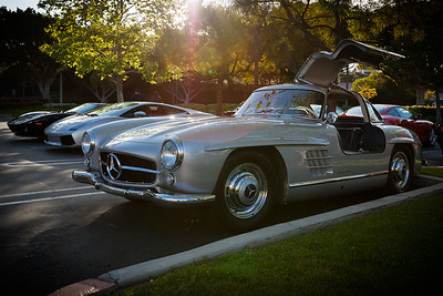 There's always at least one Mercedes 300SL at our local event