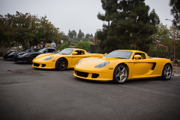 Four Porsche Carrera GTs!