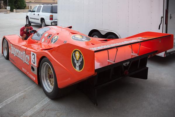 Porsche 956 Group C prototype in Jägermeister livery.