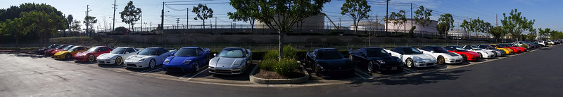 Quick smartphone panorama of the lot