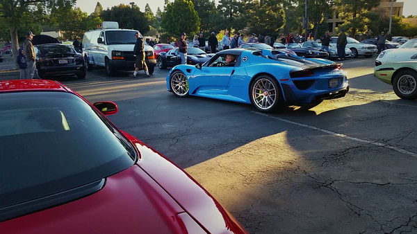 The local Porsche dealer brings some cars to our C&C...appropriate given that Porsche owners appear to make up the majority of our event