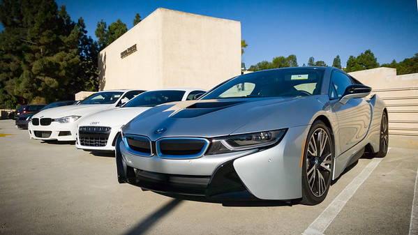 BMW i8...next to an Audi R8