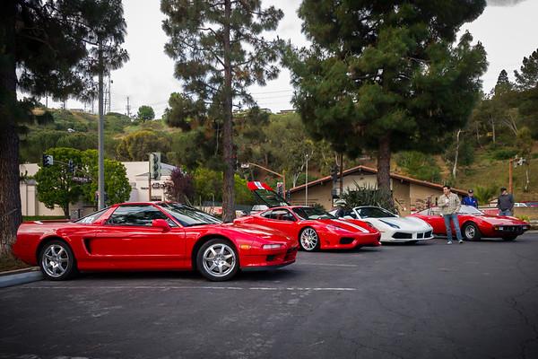 This time my NSX park in Ferrari corner