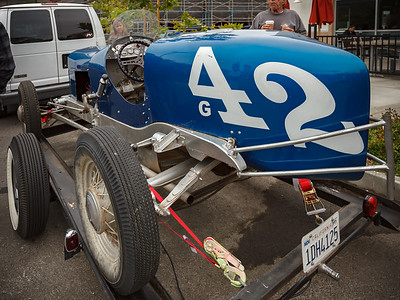 This vintage race car looks like it actually gets driven