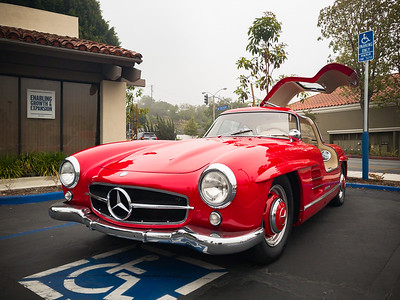 Before I depart, I take a shot of one of my favorites.  One of these days, I will get a shot of my Model X next to this Mercedes 300SL.  Falcon Wings and Gull-wings...gotta love them!
