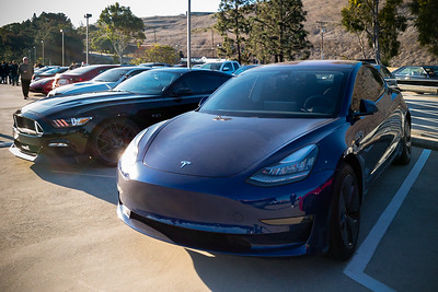No, not THIS EV.  I am pleased to see someone brought a Tesla Model 3 to this event, but dang is it DIRTY!  And I was hoping to get good photos of one with my DSLR today!