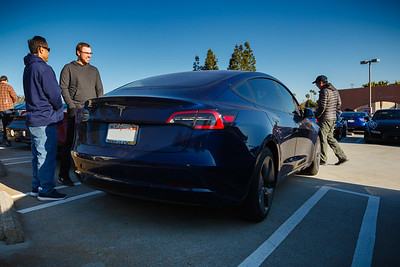The owner of this Model 3 works for SpaceX, so he was among the first to be able to buy one