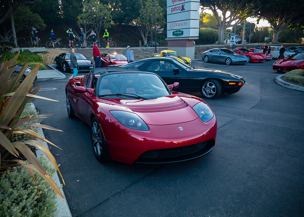 First Tesla Roadster I have seen up here in ages
