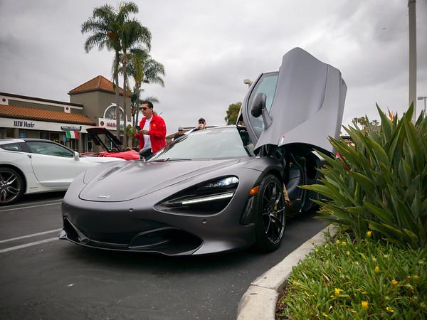 A McLaren 720S arrives shortly after I park
