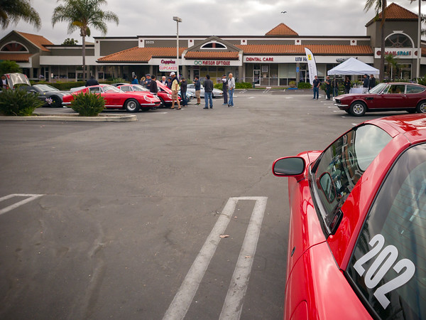 For the first time, I had to choose between hanging with the Porsche crowd on the hill or the Ferrari crowd at its base