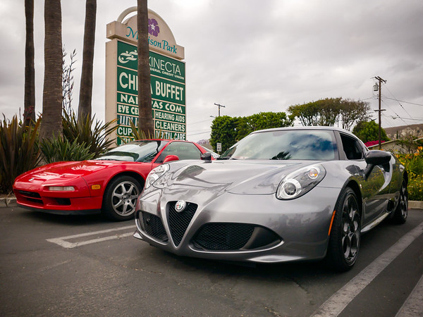 Non-Ferrari mid-engine cars stick together