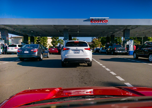 It's hard to believe the last time I visited a gas station was in September.  I bought a lot of gas that month thanks to our Bay Area road trip for NSXPO...but haven't filled up since I got home.