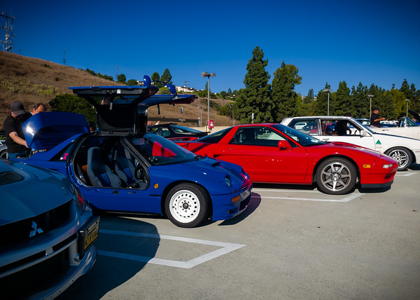 I drove my NSX when I first met Ashley and her AZ-1 at a Saturday Shift Cars & Coffee, but I didn't park next to her car then.  And I was in my Tesla Model X the other times I have seen her AZ-1...so I knew I had to get a photo of our two Japanese cars side-by-side